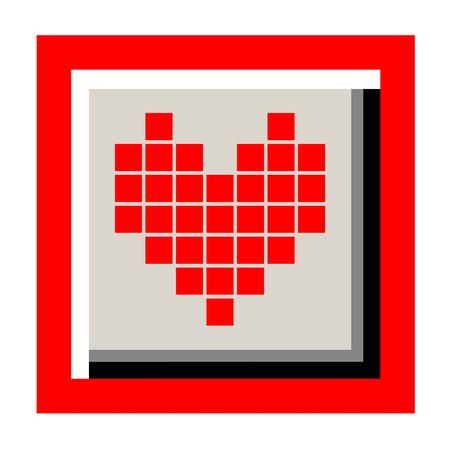 original circular abstract: heart icon