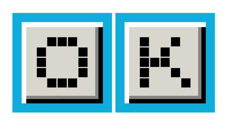 original circular abstract: okay icon Illustration