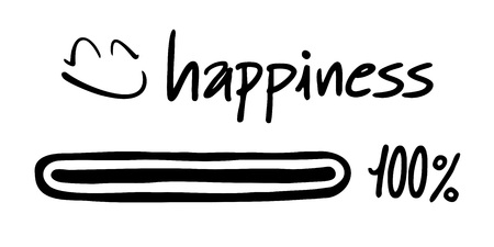 happines: happines symbol Illustration