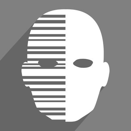imaginative face icon Illustration
