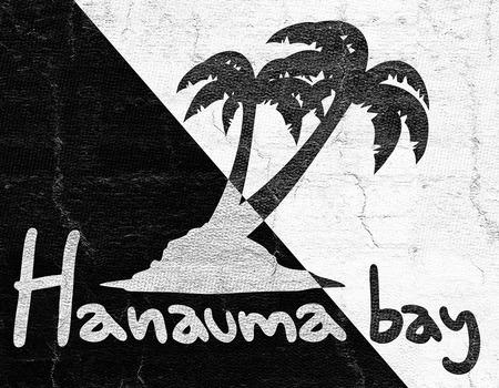 Hanauma bay beach icon Stock Photo