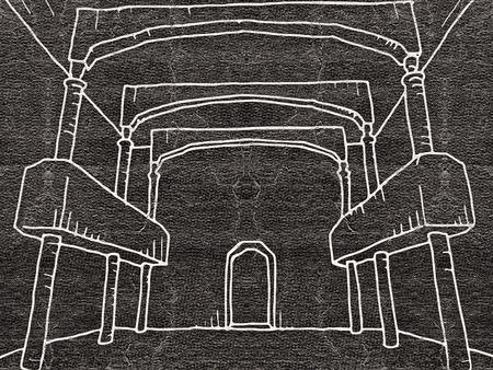 architecture: Interior architecture draw
