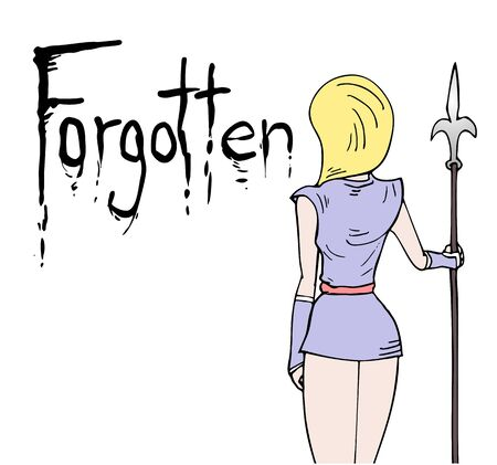 forgotten: forgotten message design Illustration
