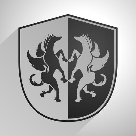 original circular abstract: medieval shield