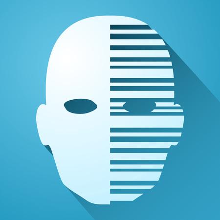 robot face: robot face icon Illustration