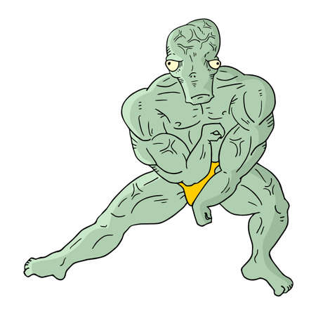 strong: strong alien Illustration