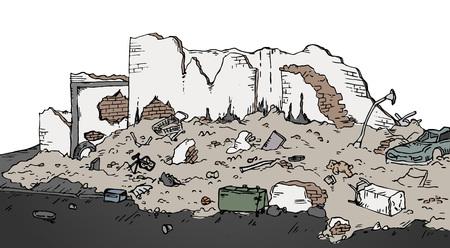 ruinas calle Ilustración