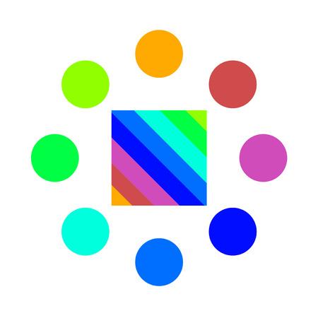 original circular abstract: color art symbol Illustration