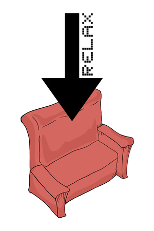 relax symbol message