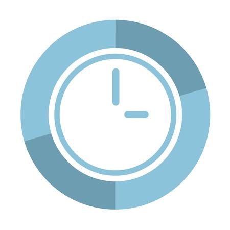 original circular abstract: clock icon