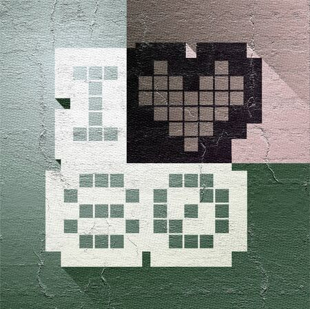 decade: vintage love 80 symbol