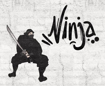 assassin: ninja illustration Stock Photo