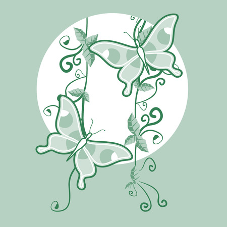 nice: Green nice decorative Illustration