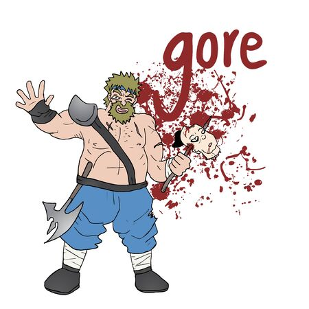 gore: strong barbarian Illustration