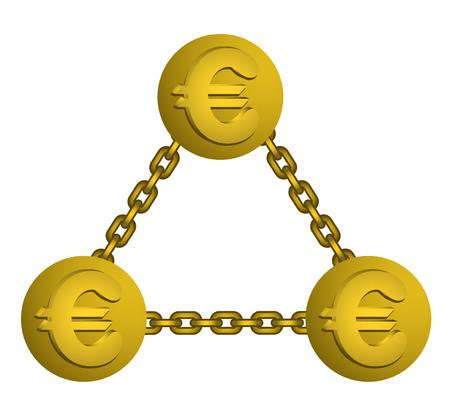 お金のシンボル  イラスト・ベクター素材