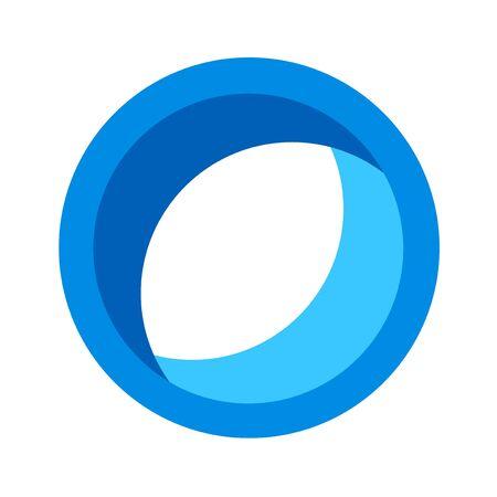original circular abstract: circle icon