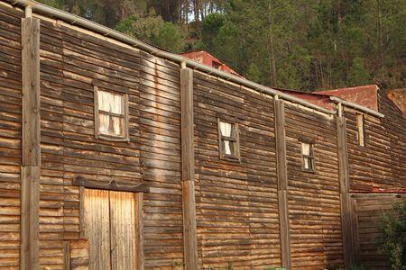 houten huis Redactioneel