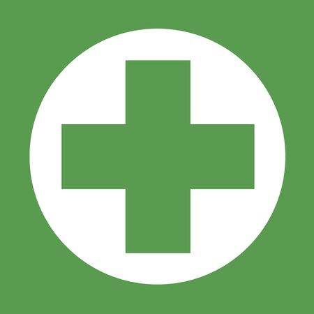 doctor symbol: green health icon
