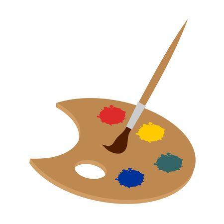 kleurenpalet illustratie
