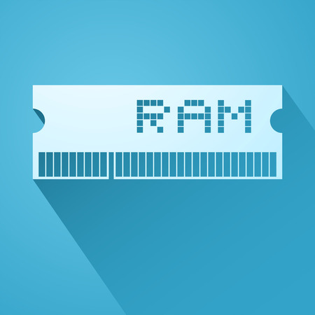 RAM memory symbol Illustration