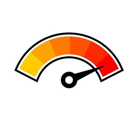 símbolo de temperatura caliente