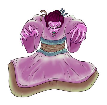 geisha: evil geisha hand draw