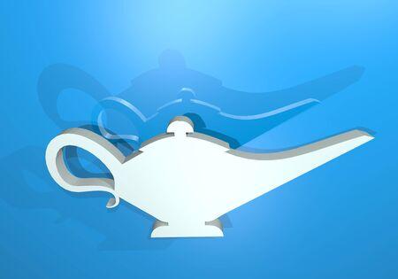 genie in a bottle: render magic lamp