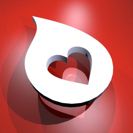 droop: heart symbol