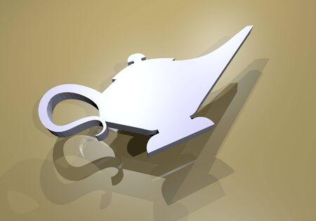 lampara magica: render lámpara mágica