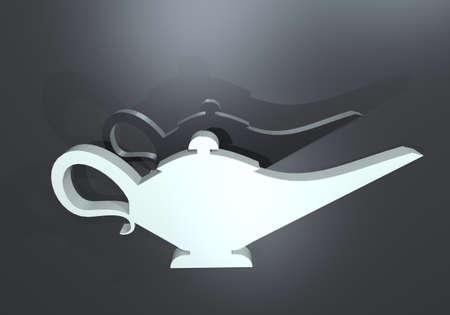 genie in a bottle: elegant magic lamp