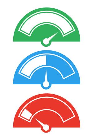 icônes d'aiguilles de compteur