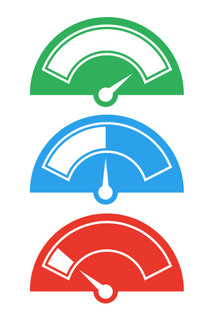 meter: meter needle icons Illustration