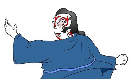 kabuki: kabuki character draw Illustration