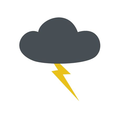 storm clouds: strom icon Illustration