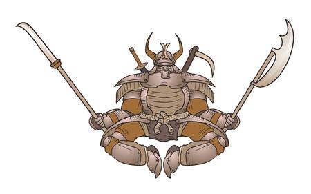 strong: strong shogun Illustration