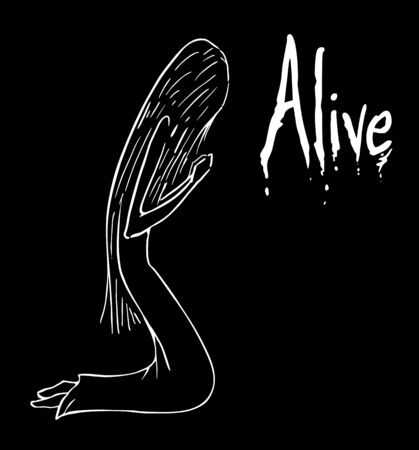 alive: alive message Illustration