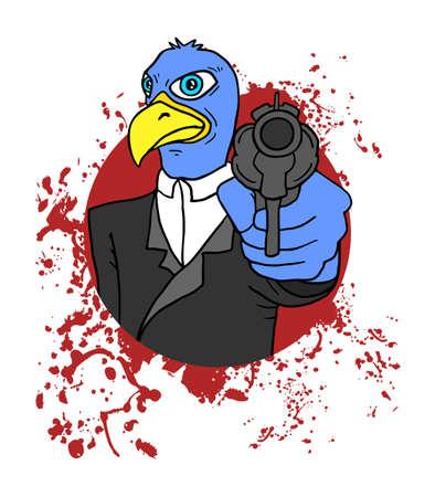 expressive style: bird criminal