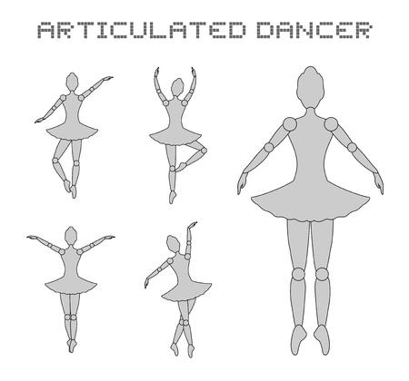 nice body: dancer girl symbol Illustration