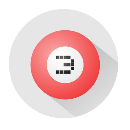 billard: billard ball number three