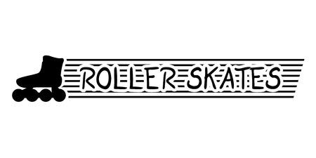 skates: roller skates sign