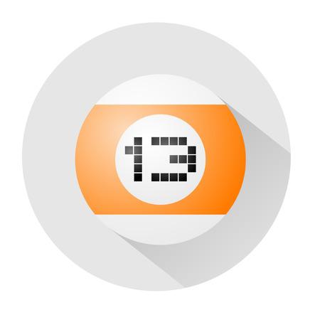 thirteen: billiards ball number thirteen symbol