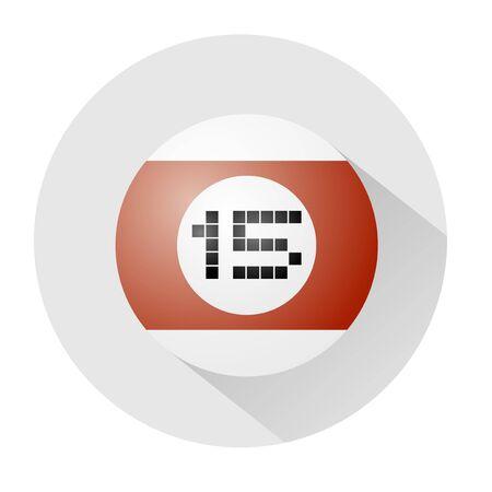 fifteen: billiards ball number fifteen symbol Illustration