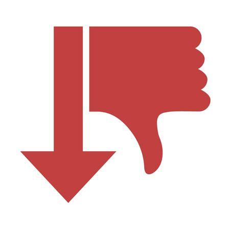 thumb keys: dislike arow symbol