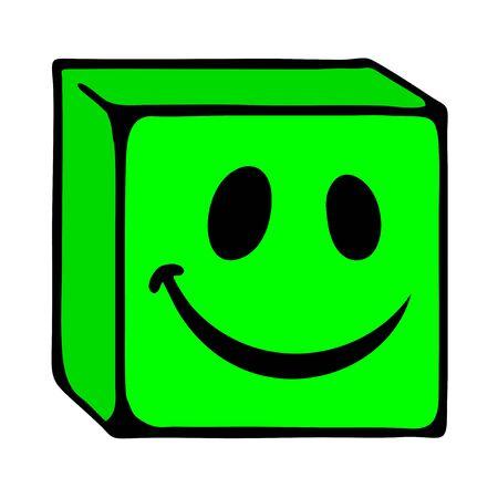 smile face: smile cube face