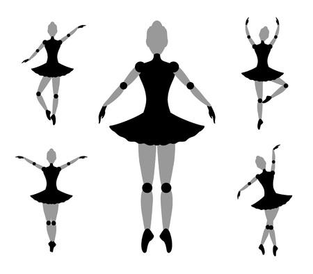 male ballet dancer: dancer girl symbol Illustration