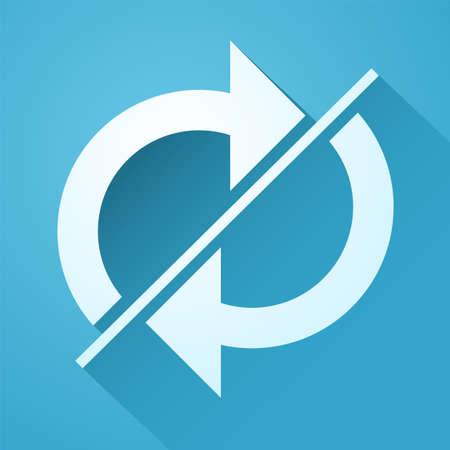 two arrows: two arrows symbol Illustration