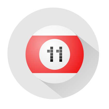 eleven: billiards ball number eleven symbol