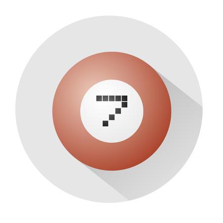 number seven: billiards ball number seven symbol