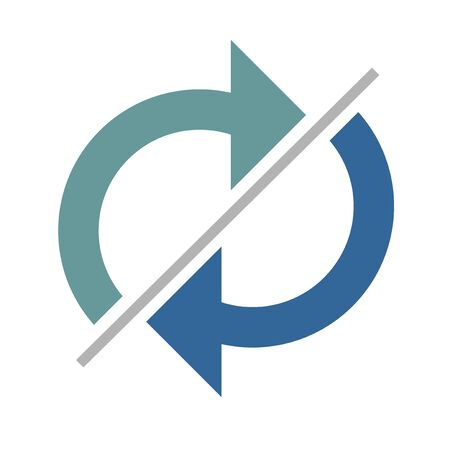 original circular abstract: recycle symbol