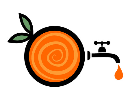 range fruit: imaginative orange juice symbol